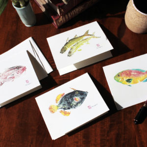 Peahi set of 4 note cards