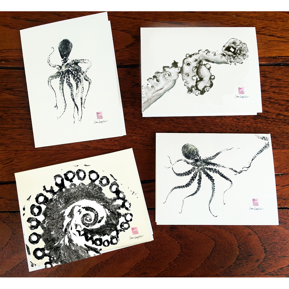 Note Cards Hee 4 Pack Debra Lumpkins Studio